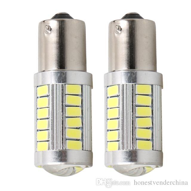 2 ШТ. 1156 BA15s P21W 33 SMD 5630 5730 Светодиодные сигналы поворота автомобиля Тормозные огни DRL дальнего света 33SMD Авто Задний Задний Лампы Оранжевый Красный