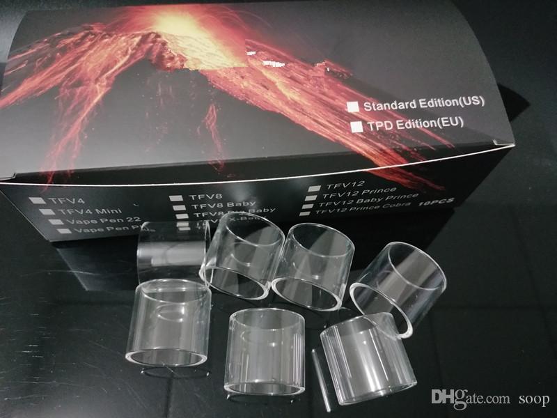 Hot Limpar Pyrex Substituição de tubos de vidro para TFV8 Baby V2 TFV12 Príncipe V8 VIO AIO Príncipe TFV8 Big Vape Caneta Do Bebê 22 além de