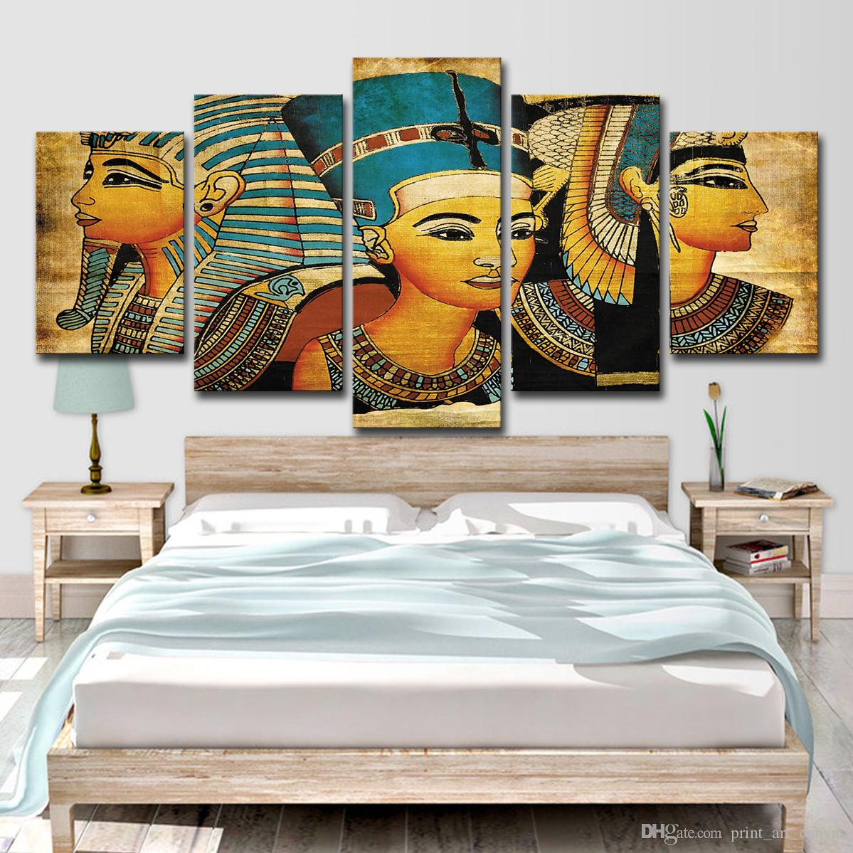 2020 Pharaoh Of Egypt Home Decoration Paintings Modern Abstract Wall Painting Wall Art Picture Unframed From Print Art Canvas 13 95 Dhgate Com,Studio Apartment Design