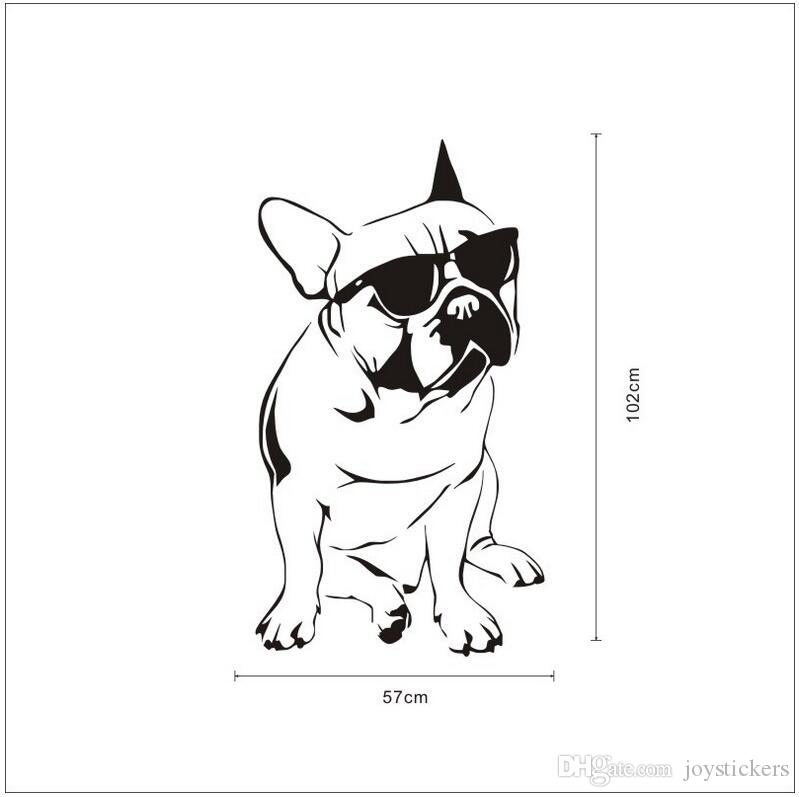 Indifference Sunglass Dog Door Wall Art Sticker Quote Sofa Background Decal Vinyl Removable Wall Stickers For Living Room 57 102 Cm Wall Word Art Wall