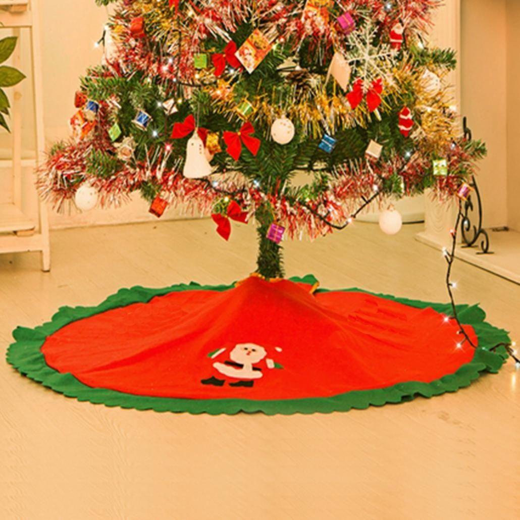 Albero Natale Decorato Rosso acquista albero di natale rosso gonna decorazioni dellalbero di natale  ornamenti di natale decorato # 289 a 1,75 € dal niceshopping18 | dhgate