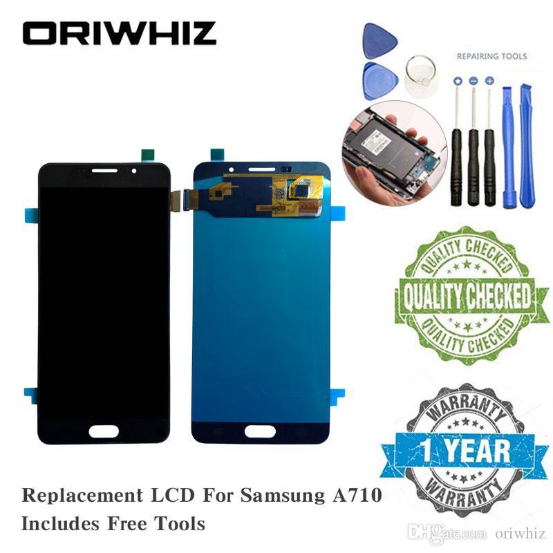 Ücretsiz Tamir Araçları ile Samsung A710 J710 J701 LCD Ekran Yedek Ekran Dokunmatik Ekran Digitizer Oriwhiz OLED TFT