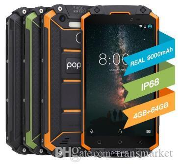 "POPTEL P9000 MAX 4GB 64GB Waterproof Smartphone 5.5""9000mAh MTK6750 Octa Core Android 7.0 Octa Core 13MP NFC OTG Fingerprint Cellphone"