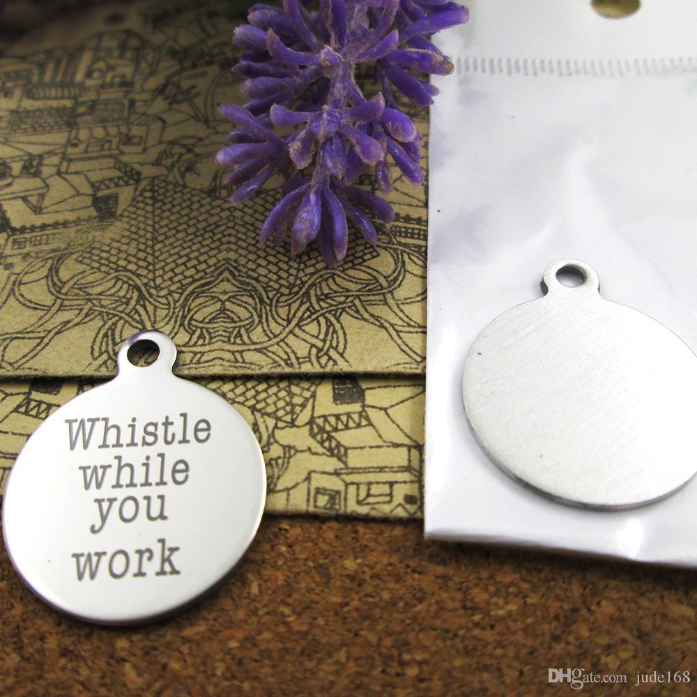 40шт - «Свист во время работы» прелесть нержавеющей стали больше стиля для выбора DIY очаровывает подвески для ожерелья