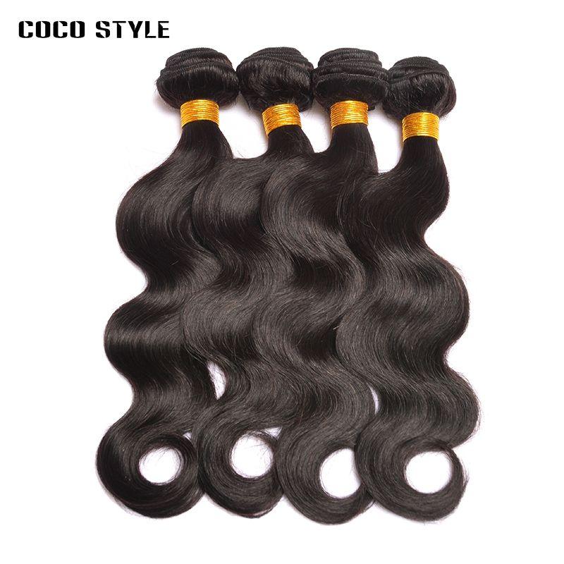 Da cor peruana peruana dos pacotes do cabelo de 4 pacotes não cor natural das extensões do cabelo humano de Remy nenhum derramamento