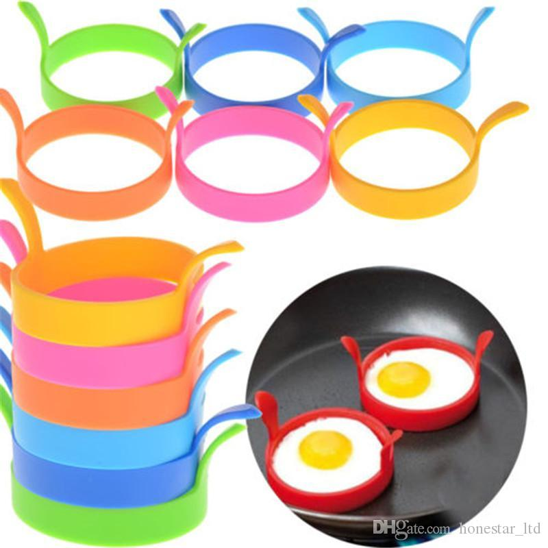 Yaratıcı Yumurta Araçları Yuvarlak Şekil Silikon Yumurta Omlet Kalıp Kızartma Gözleme Pişirme Kalıp Kahvaltı Temel
