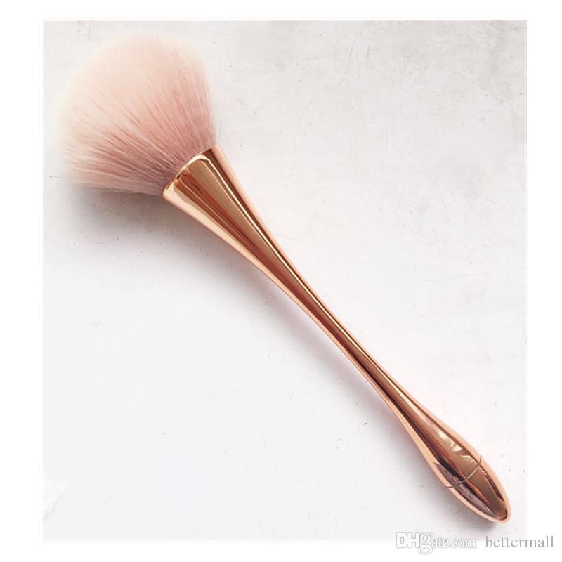 Nouvelle Fondation Brosse À Maquillage Protable Cosmétique Brosse Maquillage Or Brosses Petite Taille Maquillage Brosse Pour Les Femmes Outils BR029