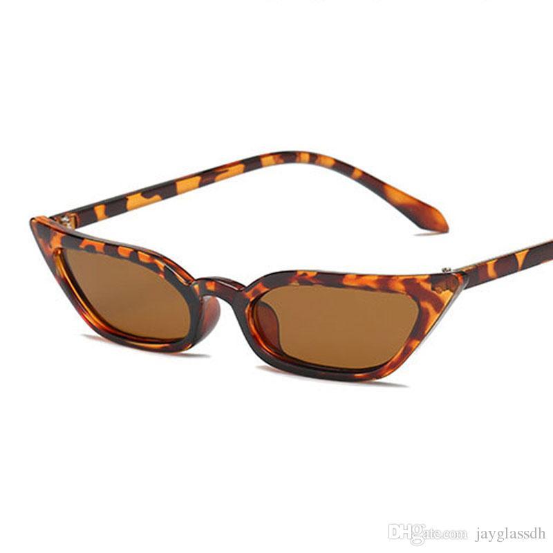 Nuovo arrivo rosso cat eye occhiali da sole donne piccolo telaio nero leopardo femminile occhiali da sole più venduti femminili uv400