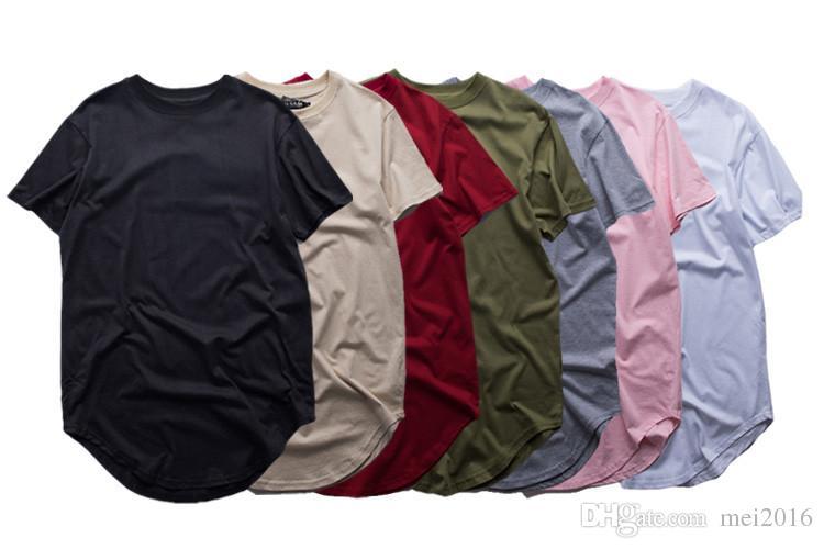 8 Cor Da Moda dos homens estendidos camiseta longline hip hop camisetas mulheres justin bieber swag roupas harajuku tshirt rock homme frete grátis