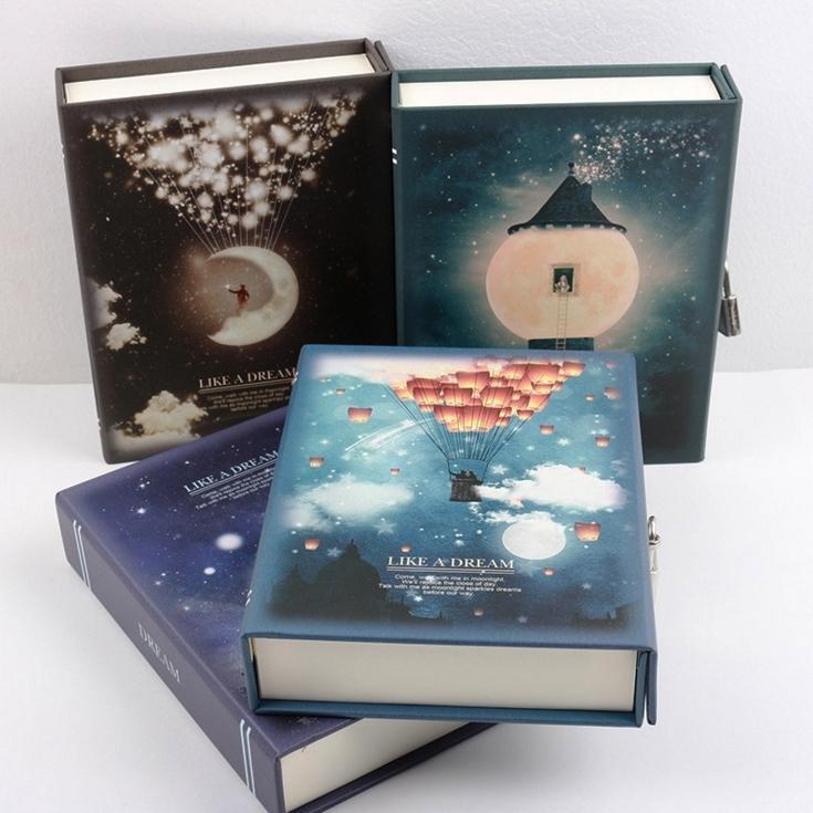 """Diario """"Like a Dream"""" con Lock NotCute Funzionale Planner Lock Book Dairy Journal Confezione regalo"""