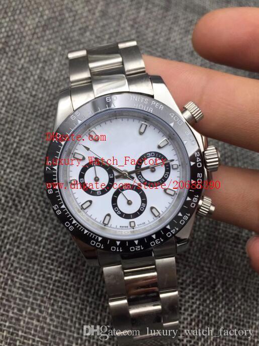Роскошные высококачественные часы 40 мм 116500 116506 116520 116509 Нержавеющая техника без хронографа Механические автоматические мужские часы 5 цвет