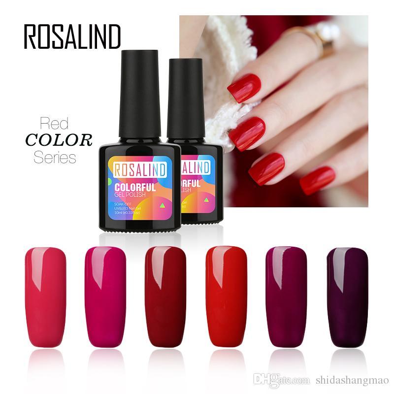 ROSALIND 10ml Nail Gel Cherry Red Series Soak Off Primer UV Gel Varnish  Semi Permanent Gel Nail Polish For Nail Art Manicure Bio Sculpture Nail Gel  ...