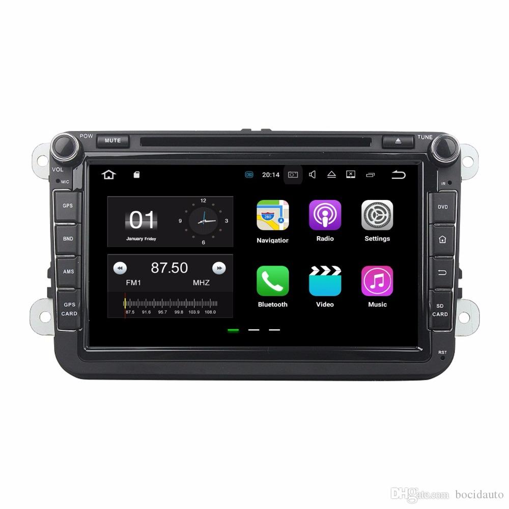 "8 ""Android 7.1.2 Araba Radyo DVD GPS Multimedya Kafa Ünitesi Araba DVD Volkswagen VW Caddy Golf Jetta Polo Sedan Touran Passat EOS Skoda"