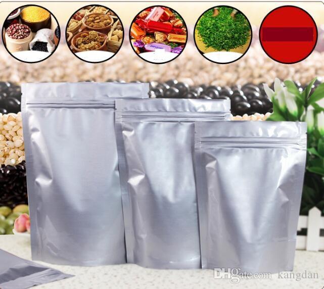 Bolsas Folha de alumínio saco de válvula lanche SEAL sacos de comida à prova de umidade bolinho Baking se levantar sacos bolsa de chá Dog embalagem de alimentos