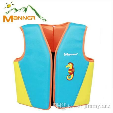 MANNER age 1-10 Kids Life Vest Water Sports Foam Life Jacket For children Drifting swimming surfing jacket with Survival Whistle