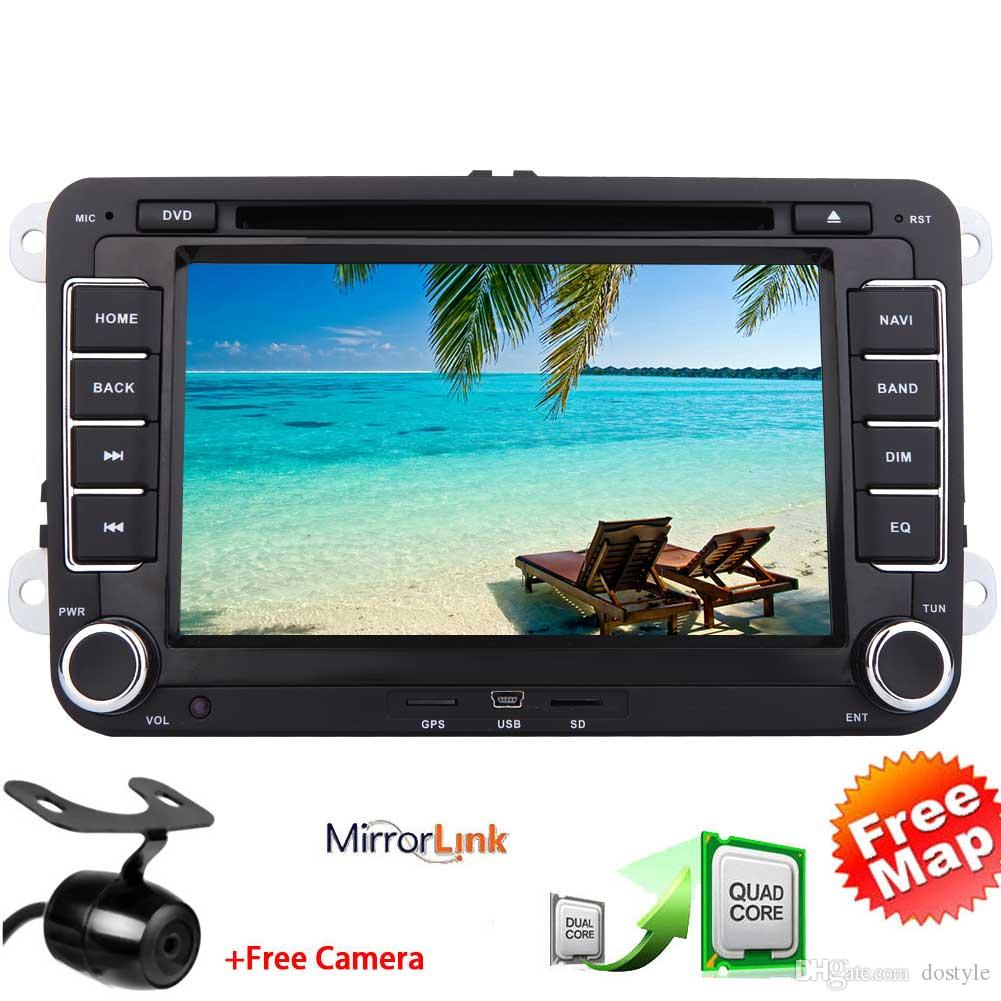 Doble Din EinCar Android6.0 Reproductor de DVD del coche para VW PASSAT Golf Quad Core 7''Touchscreen GPS del coche Navegación GPS en tablero Bluetooth WiFi