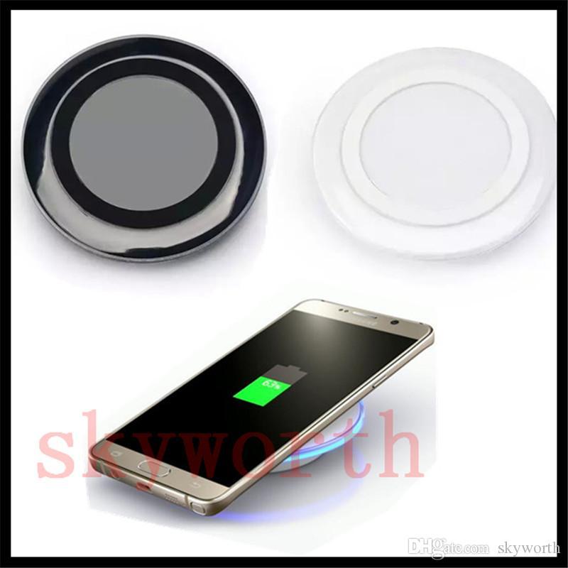 Cargador inalámbrico Qi universal de alta calidad para Samsung Note8 Galaxy s7 Edge s8 plus note8 iphone 8 X pad móvil con cable usb paquete