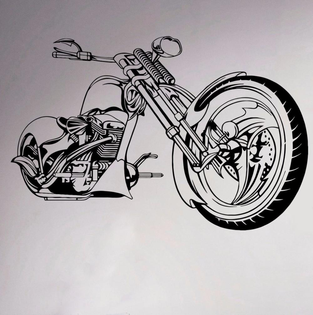 Motorcycle Wall Sticker for room decor Garage Sport Club Wall Vinyl Decals