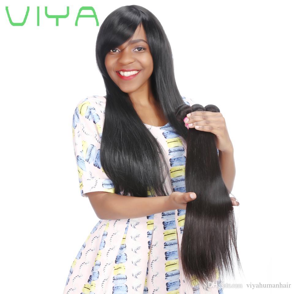 9A Rohboden Jungfrau-brasilianisches Haar 3 Bündel mit Verschluss 100% Günstige seidiger gerade Haar-Webart mit Spitze Schließung Haar Bündel mit Closure