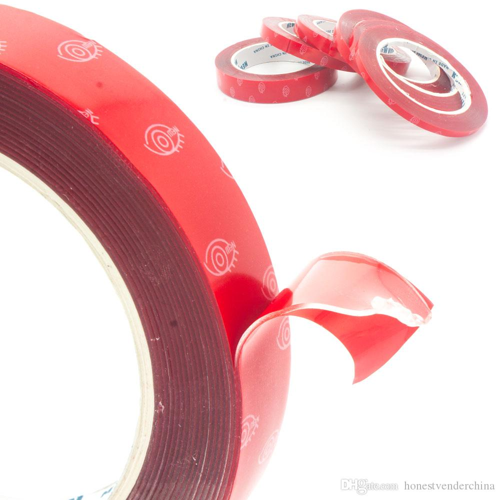 2X 10mm 3Meter 300MM Double Side Strong Acrylic Adhesive Clear Double-sided Glue Tape No Trace Auto Truck Styling Repair