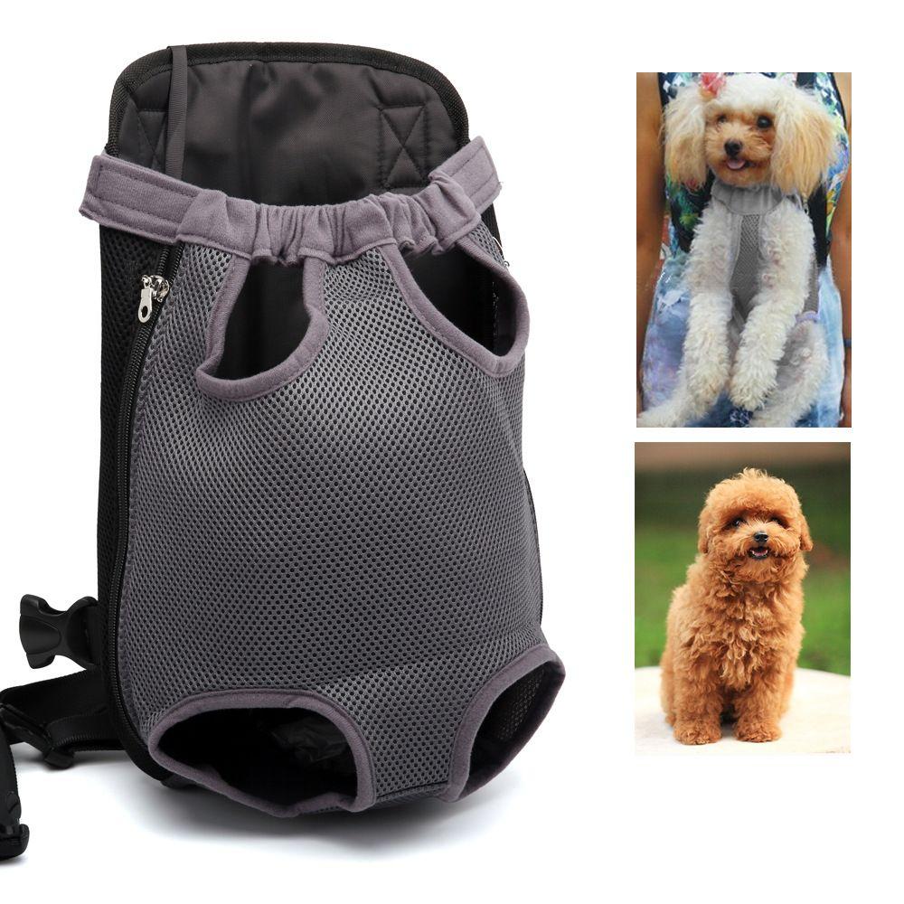 Mochila para perros pequeños para mascotas Mochila de malla de viaje Mochila para perros de viaje Bolsas para cachorros Bolsa de hombro Paquete para el pecho Porta mascotas portátil para mascotas