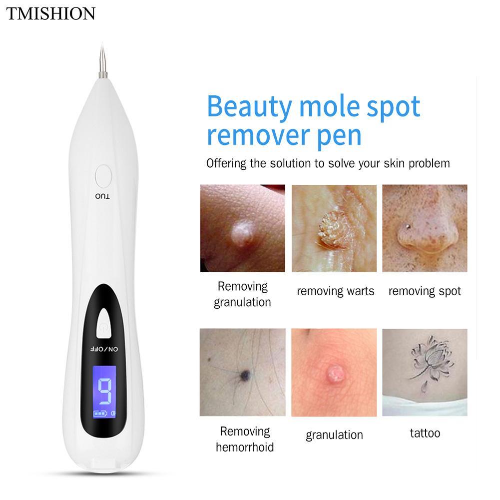 USB Recarregável Mole Spot Freckle Remoção de Tatuagem Caneta LCD de Varredura A Laser Ajustável Eletrônico Rosto Cuidados Com A Pele Beleza Instrumento
