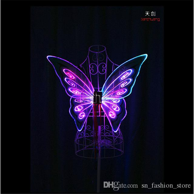 TC-171C Child models programmable led light wings butterfly belly dance led costumes dresses stage show wears RGB full color led performance