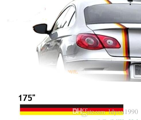 """(450*15cm/Roll) 175"""" Car styling Car Vinyl Decals Hood Stickers Racing Stripes For All Cars VW Scirocco Beetle Gti"""