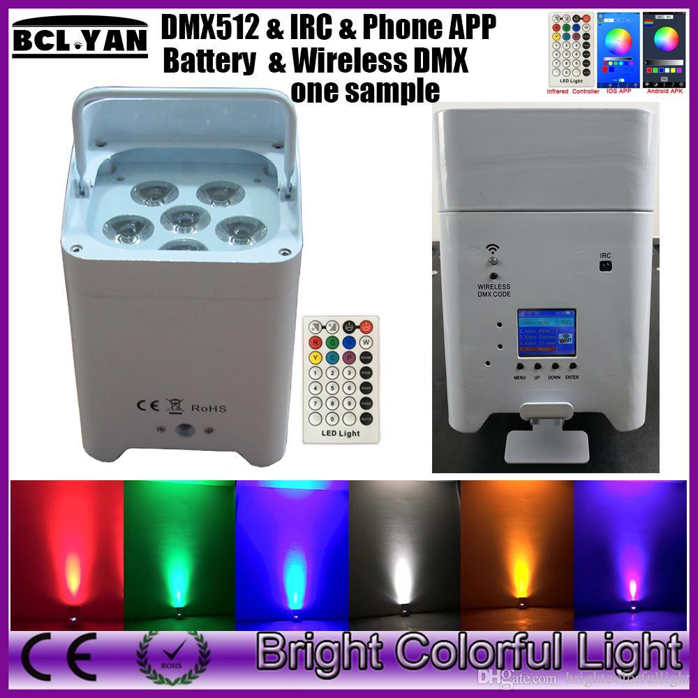 2020 One Sample Wifi Smart Par Light 6 18w Rgbwa Uv Wireless Dmx Battery Wifi Led Bar Uplights Ios Andorid Phone App Irc From Brightcolorfullight 183 92 Dhgate Com
