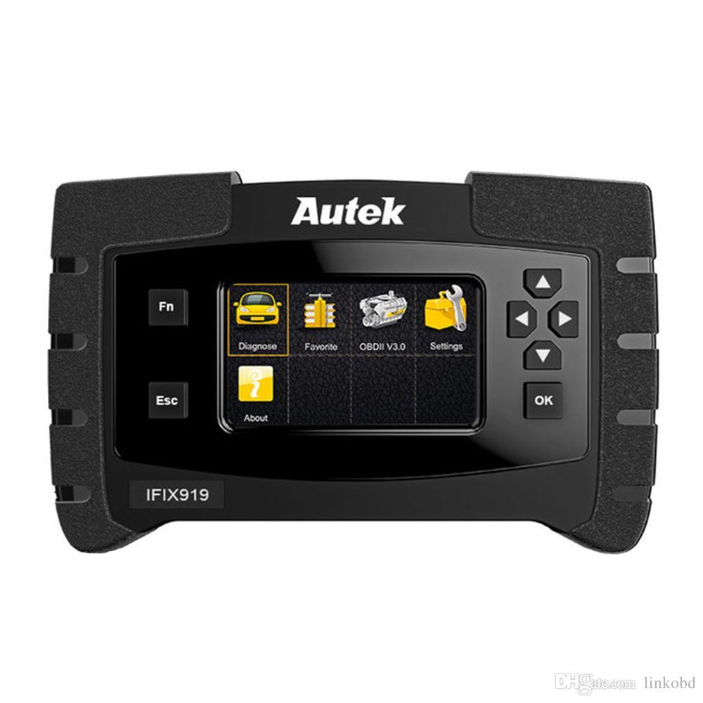 Autek ifix919 OBD2 Scanner Automotivo Sistema Completo de Transmissão ABS Airbag SAS Serviço de Óleo Imobilizador Ferramenta de Verificação de Reset