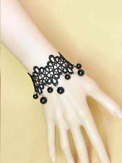 hot new celebrità della moda europea e americana nobile accessori vintage sexy pizzo signora braccialetto nero moda classica eleganza delicata