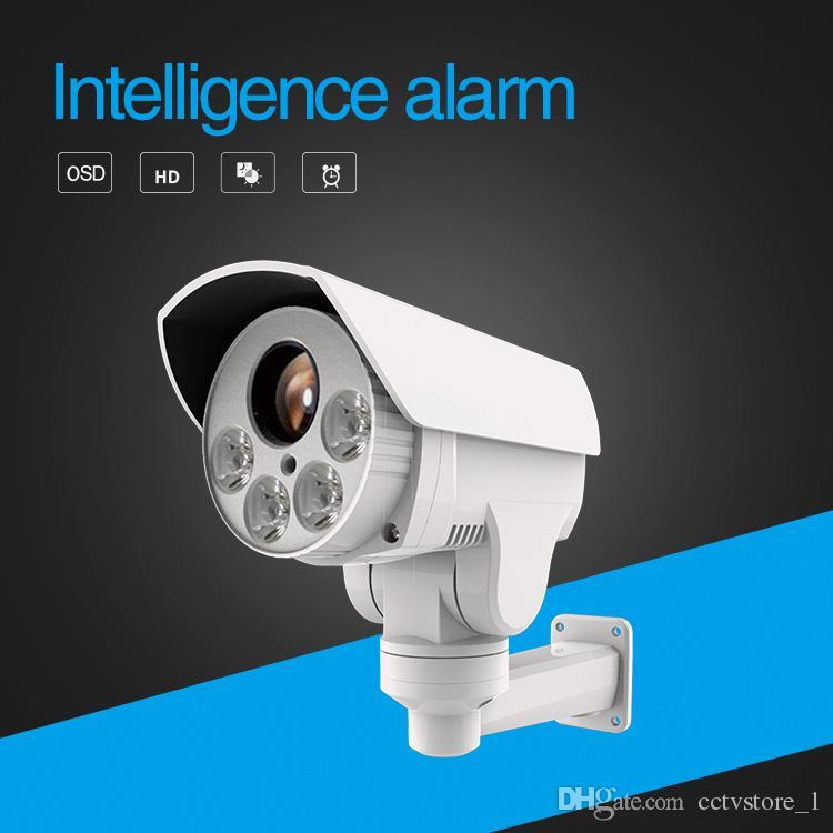 كاميرا PTZ رصاصة 1080P رصاصة في الهواء الطلق ، 2.0MP 10X تكبير 80M IR CCTV IP كاميرا بطاقة فتحة مع POE صوت التنبيه في اختياري