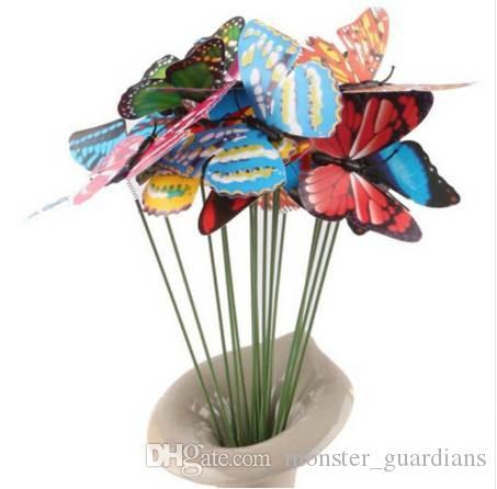 Ev için sopa Modern süslemeler Kelebekler Dekorasyon Sanatsal Garden 10pcs Ev Dekorasyon Aksesuarları Minyatür