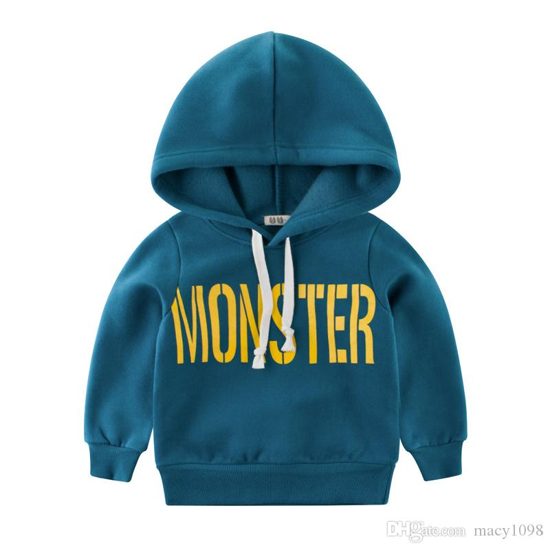 e3dcad424 2019 Monster Baby Hoodies Hooded Kids Cool Boy Sweatshirts 2 10Y Children  Tops Good Quality From Macy1098, $11.06 | DHgate.Com