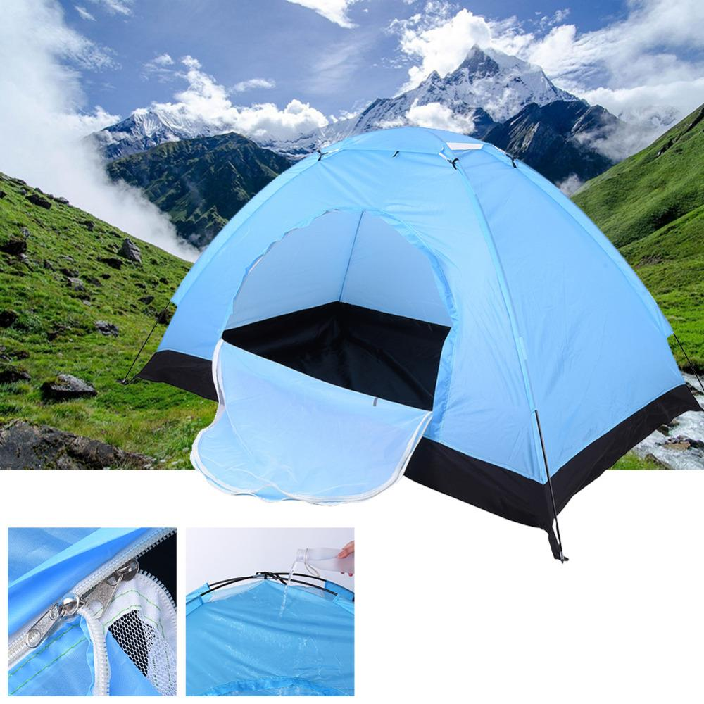 Wholesale- Hot Sale !! One&Two Bedroom Outdoor Single Tents Hiking& Camping Tents High Strength Fibre Glass FRP Pole Waterproof Windproof