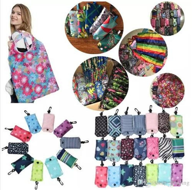 Nylon Dobrável Sacos de Compras Celular Caso Reutilizável Eco-Friendly sacos de dobramento Bolsa de Compras Nova Bolsa De Armazenamento Das Senhoras Bolsa