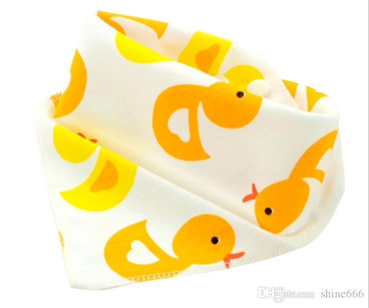 Cotton towel gauze square baby boys & girls printed saliva towel double gauze thin small handkerchief child washcloths handkerchief