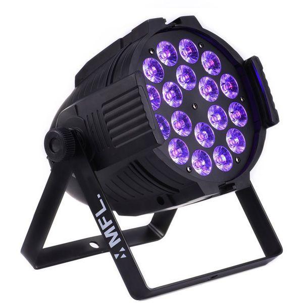 18x18w 6in1 RGBW + ámbar + UV LED colorido de la igualdad del LED DMX de iluminación de la etapa del partido del concierto Teatro Night Club