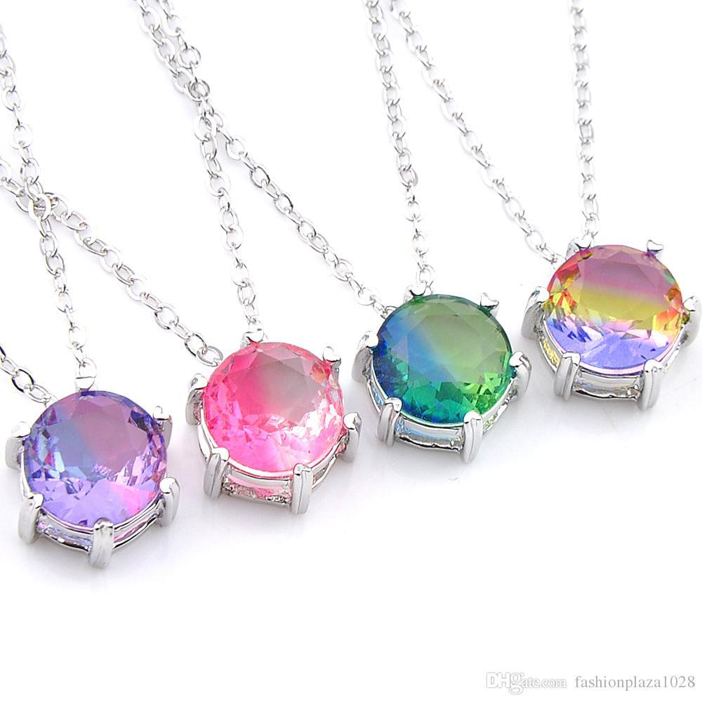 10 Pcs/Lot Optional Multi-color BI-COLOREDTourmaline Pendants Women New Fashion wedding Party pendants for Necklaces
