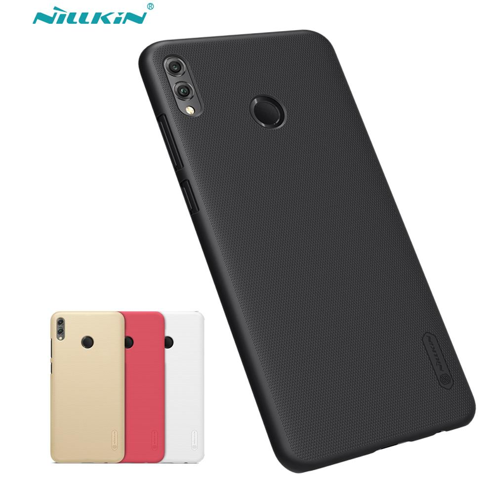 vendita all'ingrosso Honor 8X Max Case Cover Nillkin Glassato Shield Hard Back Matte Custodia per Huawei Honor 8X Max PC Paraurti Regalo Phone Holder