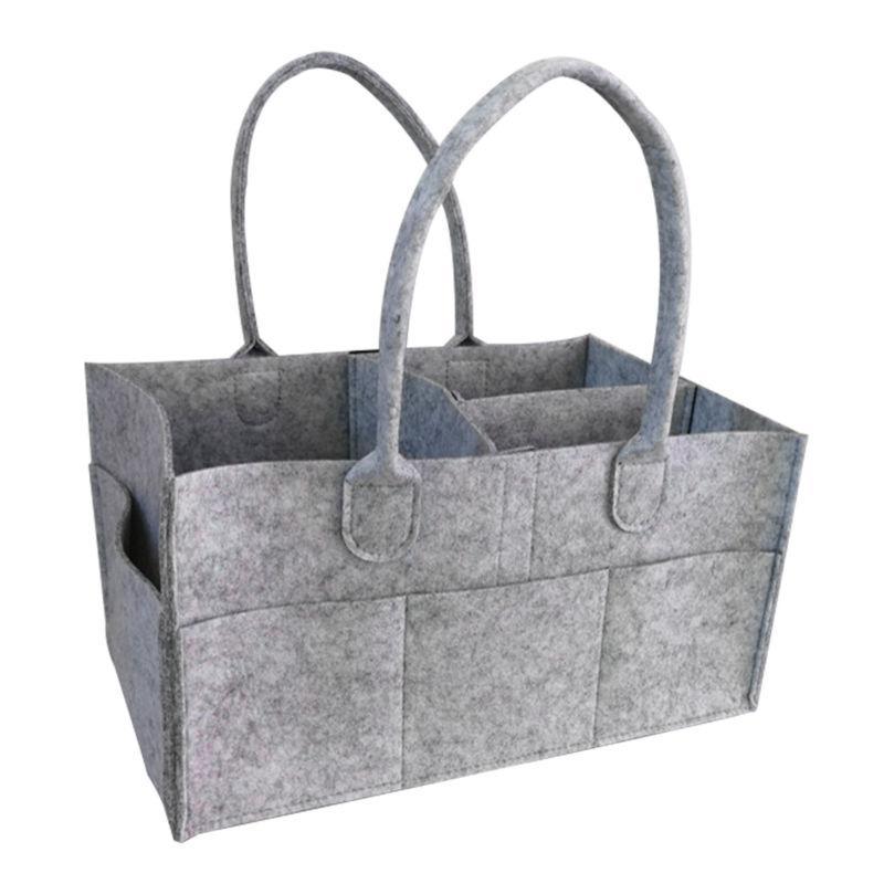 Baby Diaper Wipes Bag Caddy Nursery Storage Bin Infant Nappy Organizer Basket