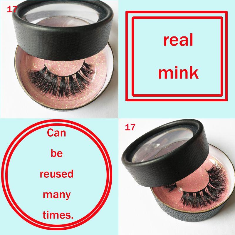 Full Strips 20 styles True Mink Hair False Eyelashes Soft Handmade Long real mink Fake Lashes Eyelashes Extension Beauty Makeup Tools gr168