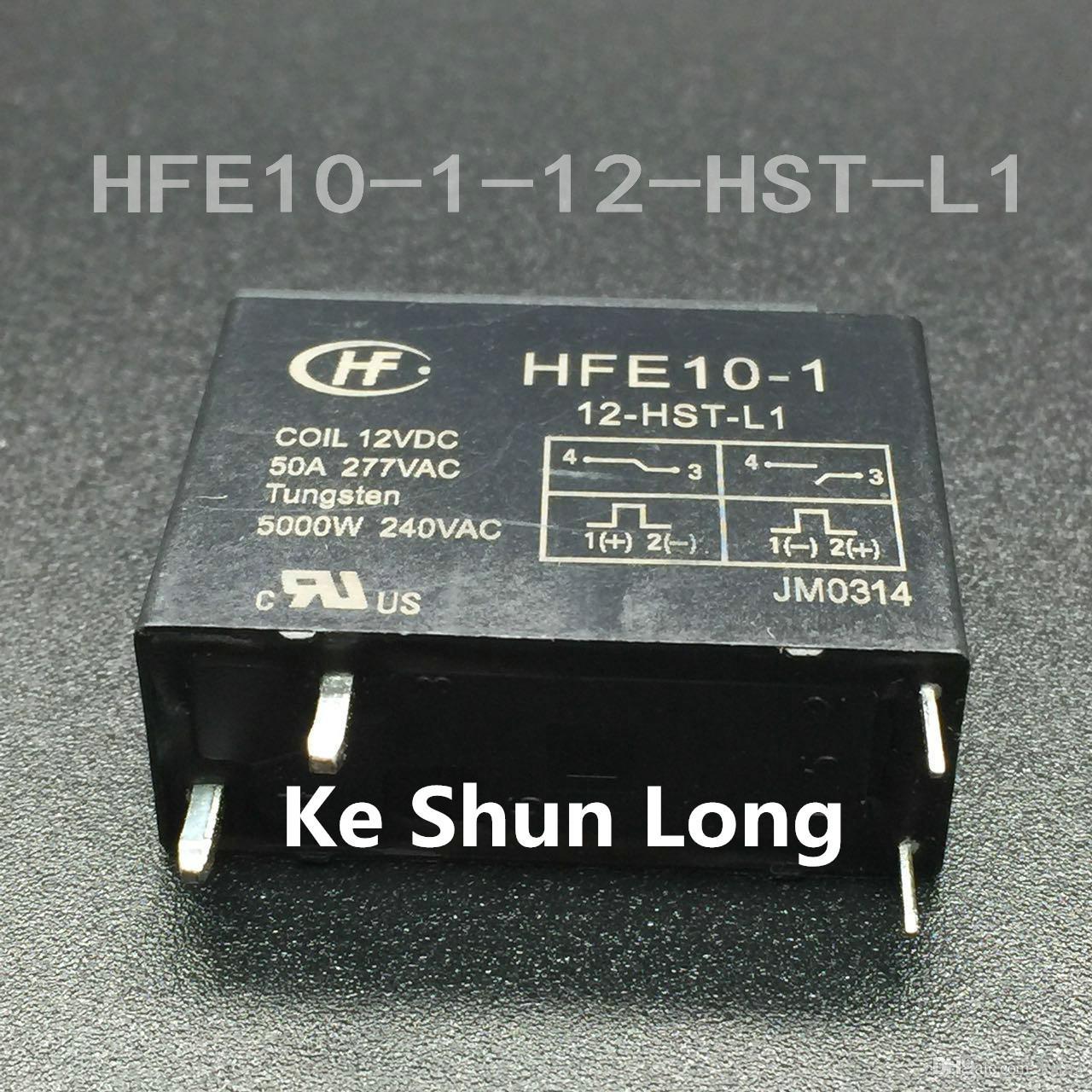 Freies verschiffen lot (5 teile / los) original Neue HONGFA HF HFE10-1-12-HST-L1 4 PINS 50A 12VDC Leistungsrelais