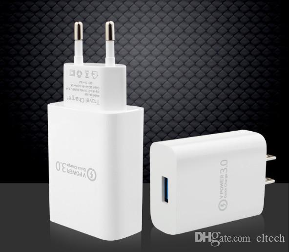 شاحن سريع سريع QC3.0 USB الجدار شاحن محول دعم الذكية لسامسونج S7 S8 Xiaomi Redmi note 5 iPhone X USB محول الطاقة