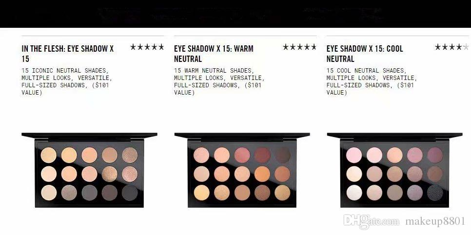 factory derict dhl free shipping newest makeup Palette 15color matte Eye shadow Palette In the flesh warm neutral cool neutral
