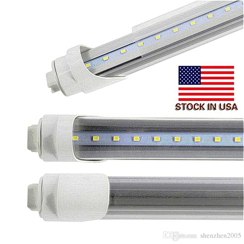 R17D t8 led tube lights 8ft 45W 2.4m Fluorescent Lamp Rotating smd2835 192leds 4800lm AC85-265V single pin warm pure cool white