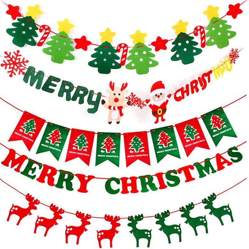 Merry Christmas Desk Table Top Flag