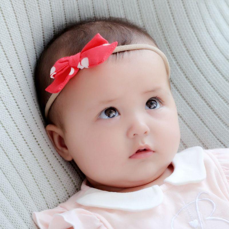 f8b9e05d001 Baby Headbands Big Bow Bunny Ear Elastic Headband Children Hair Accessories  Cute Hairbands For Girls Nylon Bow Headwear Headdress KHA612 Blue Hair ...