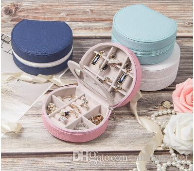 Jewelry Storage Box Travel Portable Multifunction Jewelry Organizer PU Leather Earring Ring Display Container Small Necklace Holder