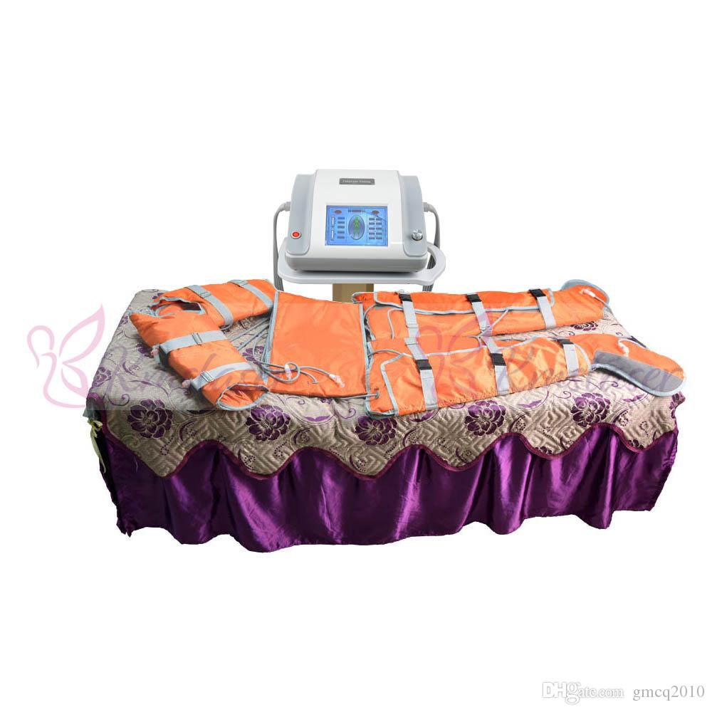 2 в 1 Дальний инфракрасный свет давление воздуха прессотерапия тела обернуть сауна одеяло для похудения детокс лимфодренаж спа-оборудование